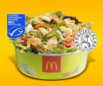 McDonald's to Include Pacifical MSC Tuna in their Menu